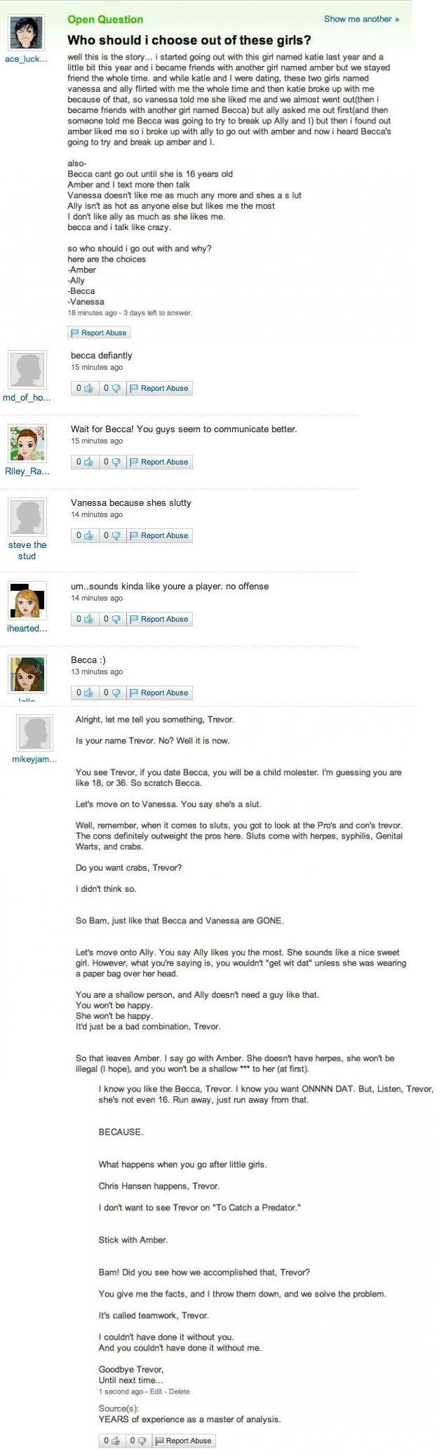 It's Called Teamwork, Trevor I Never Loled Harder Http · Yahoo  Answersrandom Let's Start How To Delete