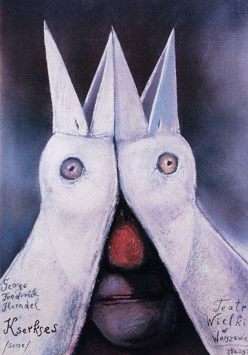 Serse, Haendel, Polish Opera Poster: Polish Posters Shop Stasys Eidrigevicius