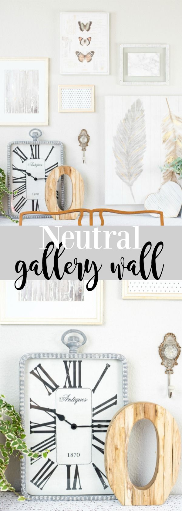 Neutral Gallery Wall Ideas from MichaelsMakers A Pumpkin And A Princess