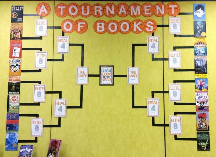 March Madness Tournament of Books ~ Love this free idea!