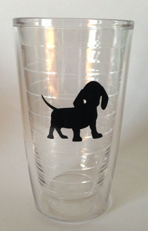 Dachshund Tervis Tumbler 16oz. Choose your color by FrostItAll, $18.00