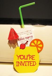invitation idea for indoor beach party