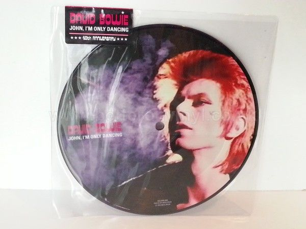 [b]SOLD[/b] DAVID BOWIE john im only dancing, 7 inch picture disc - SINGLES all genres, Including PICTURE DISCS, DIE-CUT, 7