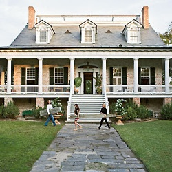 plantation style home.....maybe with daylight basement?
