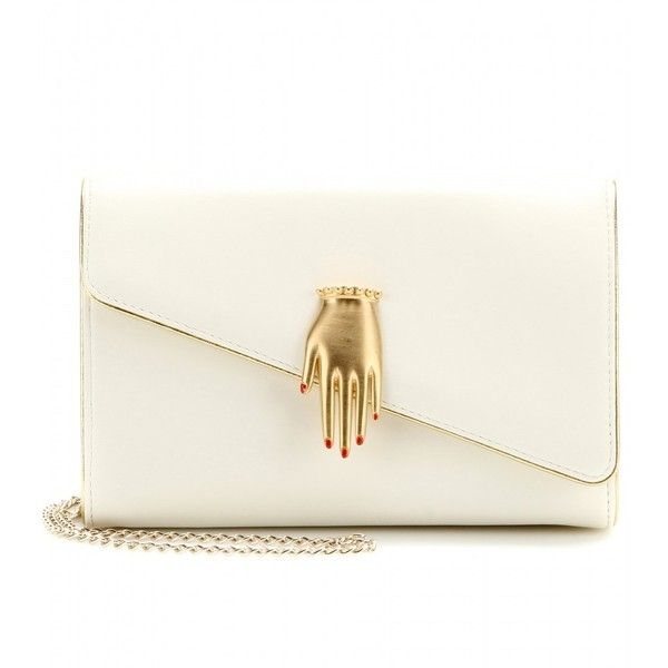 Charlotte Olympia Hands Off Leather Shoulder Bag found on Polyvore