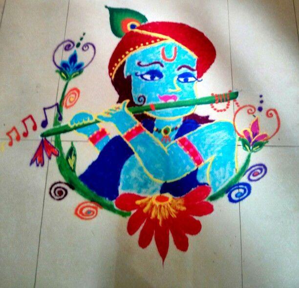 Rangoli of Krishna!!!