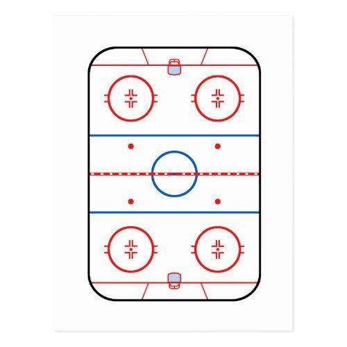 Ice Rink Diagram Hockey Game Companion Postcard Zazzle Com In 2020 Custom Throw Blankets Hockey Personalized Throw Blanket