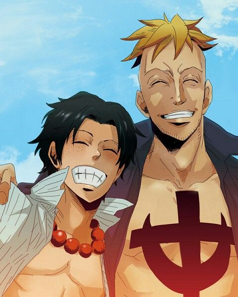 One Piece Marco X Ace 61 best images about M...