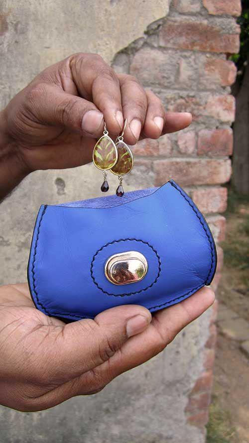 Cobalt Nicola, Chiaroscuro, India, Pure Leather, Handbag, Bag, Workshop Made, Leather, Bags, Handmade, Artisanal, Leather Work, Leather Workshop, Fashion, Women's Fashion, Women's Accessories, Accessories, Handcrafted, Made In India, Chiaroscuro Bags - 4