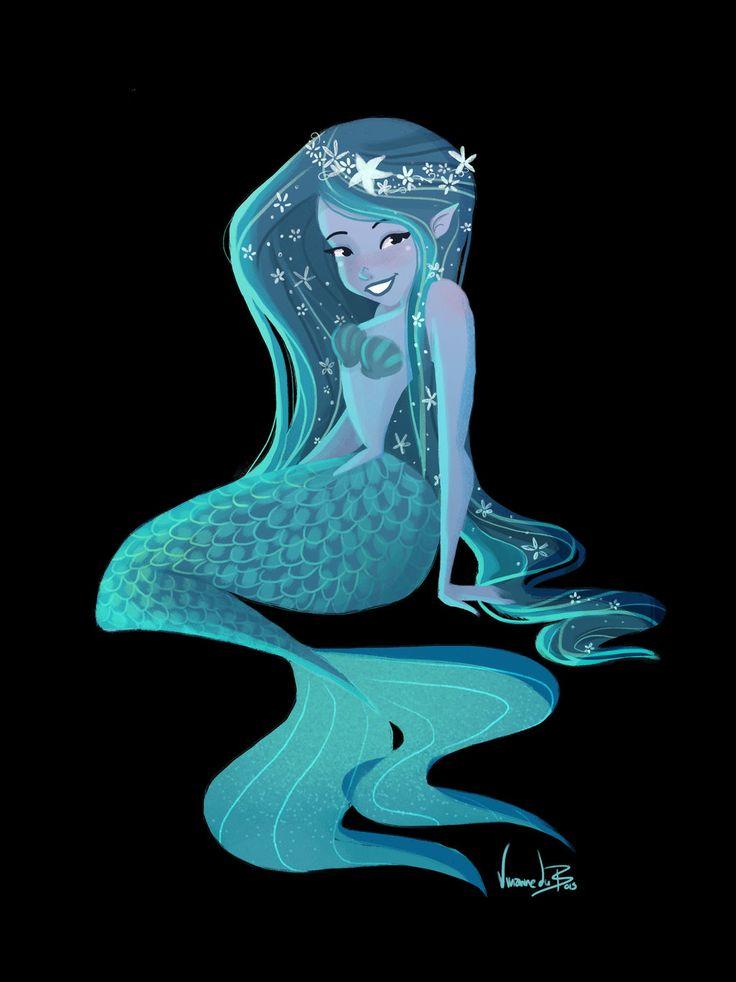mermaid lovers   blue mermaid by Vijolea