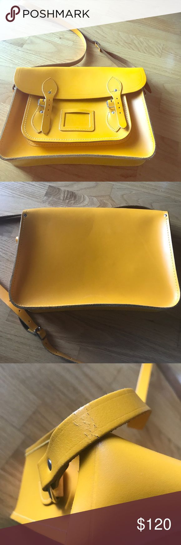 Cambridge Satchel Bag in yellow Good condition bag used only few time. The Cambridge satchel 14 inch in yellow. The Cambridge Satchel Company Bags Satchels