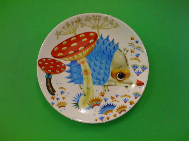 Hedgehog on a plate by Klaus Haapaniemi