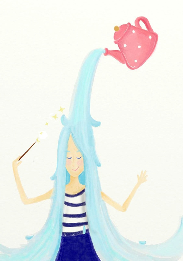 Rainy Hair by Melati Andalusia Ibrahim, via Behance