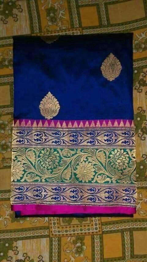 Saree for  Mandva..pattu. .south Indian look❤