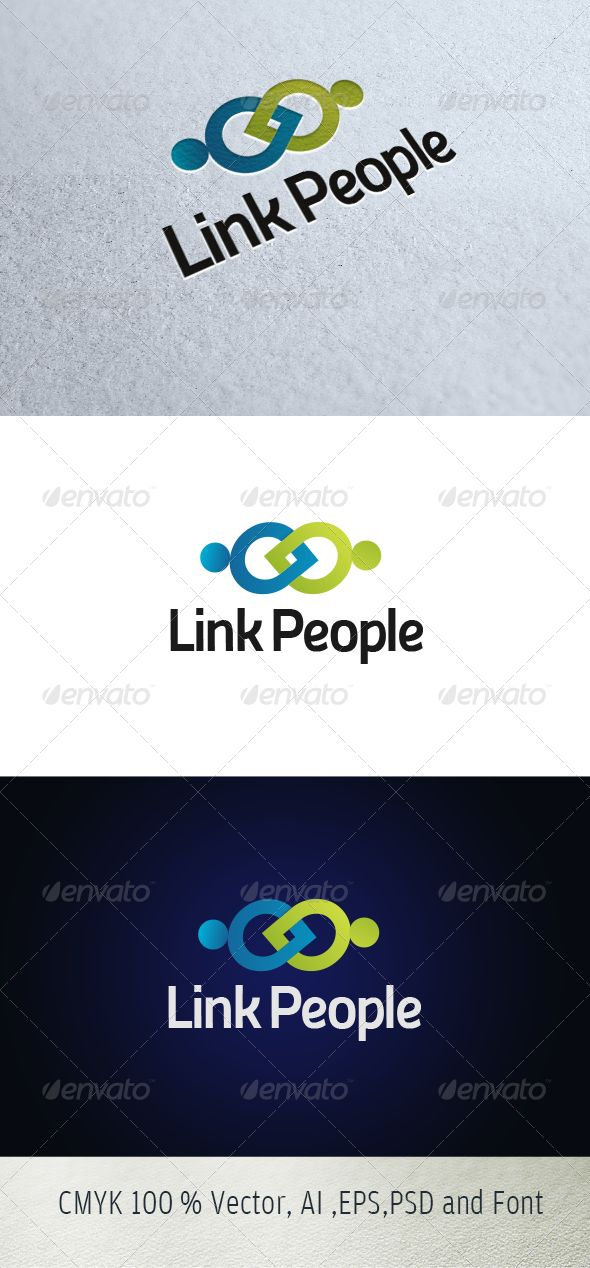 Link People Logo for sale just 29$