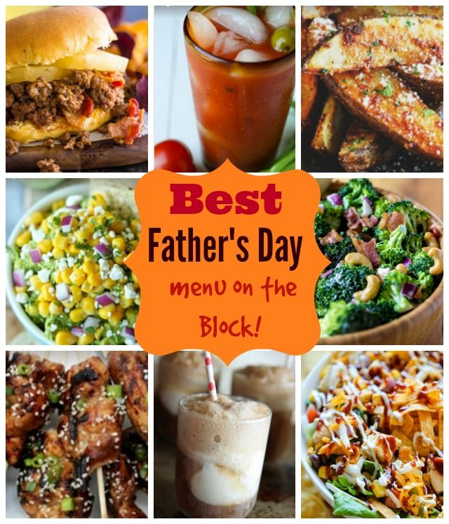 father's day menu template free