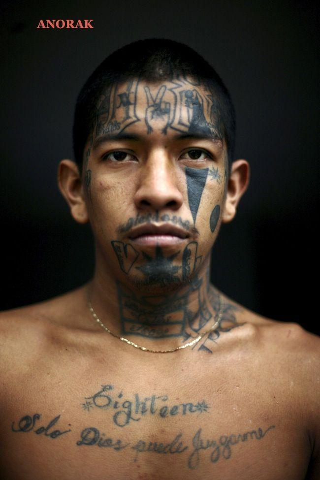 "Mauricio Jose Solorzano, 23, a Mara gang member who identifies himself as ""Pinky,"" poses for his portrait in prison in Chimaltenango, Guatemala"