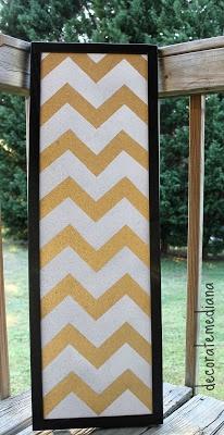 Decorate Me Diana: DIY Chevron Cork Board