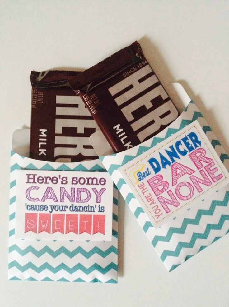 Dance Team Favors or Gifts, Simple Candy Bar Wrapper