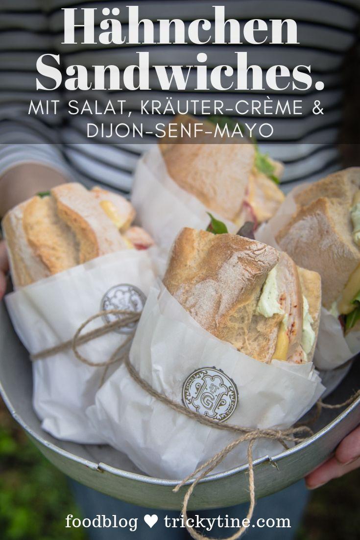 Rezept für Hähnchenbrust-Sandwiches mit Salat, Kräutercreme und Djion-Senf-Mayo   – trickytine – Rezepte von meinem Blog