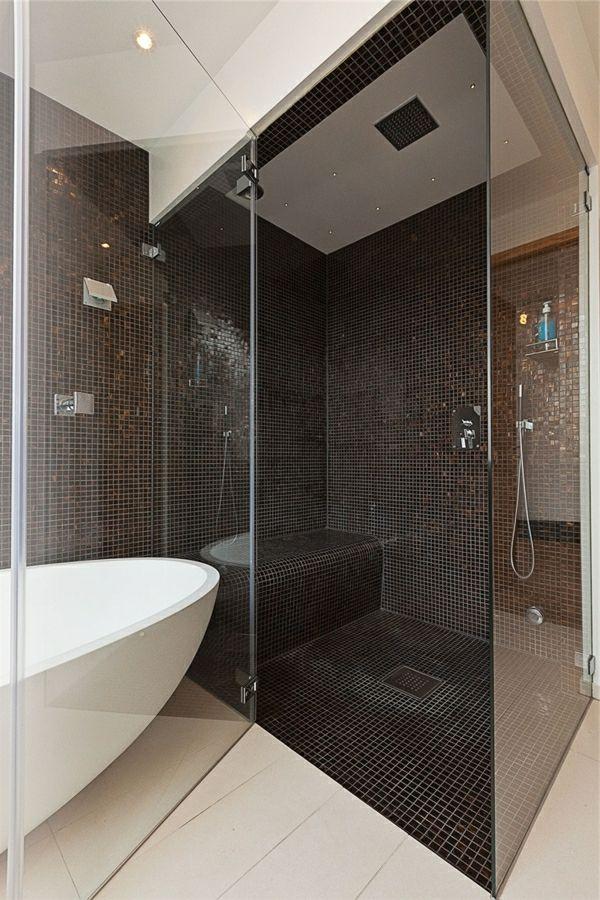 Duschwand Glas : Duschw?nde Glas Design Mosaikfliesen Badezimmer Zuk ...
