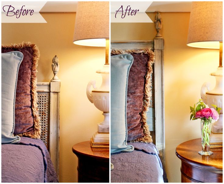 Adventures in Antiquing: How to Make a Short Headboard Look Taller (http://blog.hgtv.com/design/2014/06/12/adventures-in-antiquing-how-to-make-a-short-headboard-look-taller/?soc=pinterest)