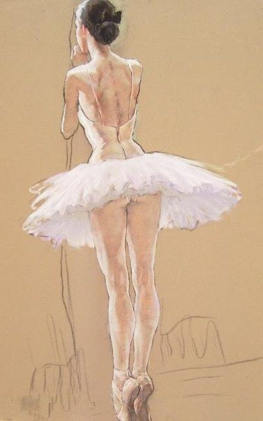 Pastel of Katya Gridneva by her husband Valeria Gridneva. How revealing the classical tutu is. From the 1870s to 1890s, the Paris ballet was little more than a showcase for nudity. Just like the academic arts it bared women under the excuse of artistic value. Modernist art revolted in various ways.