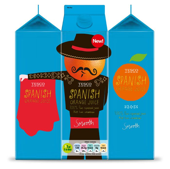 Tesco Spanish Orange Juice (very good packaging design I think, especially for a supermarket!!!)