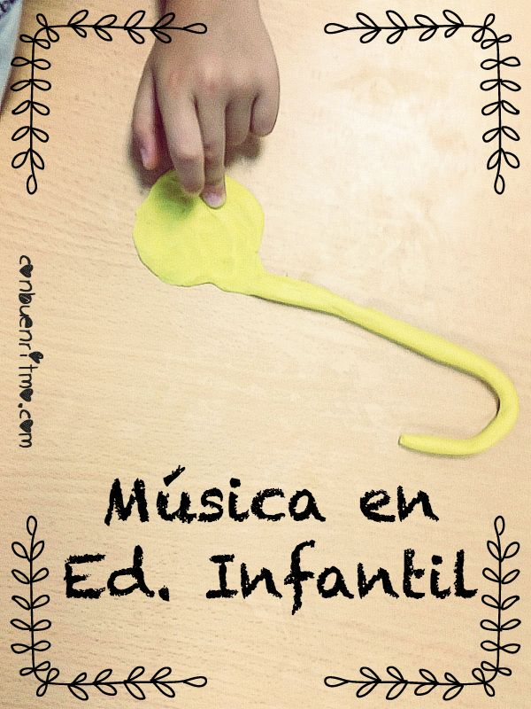 Empezamos a familiarizarnos con las clases de música en Educación Infantil