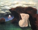 Sima, Josef - Untitled, Surrealism, Oil on canvas, Abstract