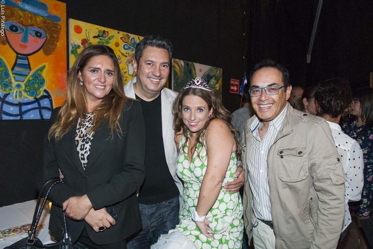 Rene Naranjo (periodista y crítico de espectáculos) y Bernardita Ruffinelli ,