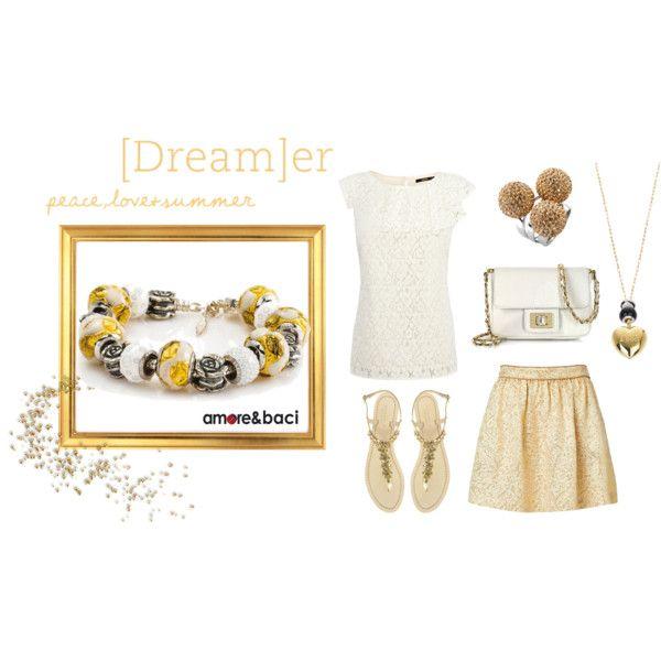 """Golden dream"" by amoreebaciworld on Polyvore"