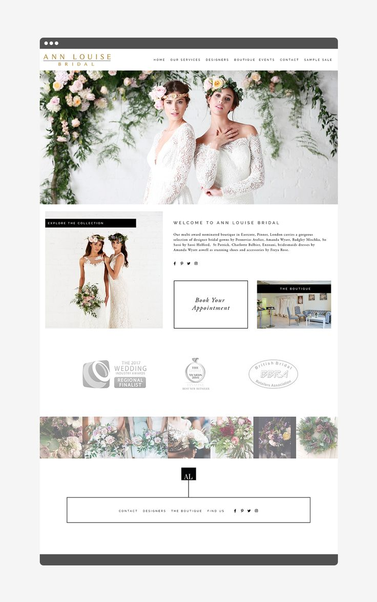 One of my favourite web design only projects that I've done for an awesome bridal boutique in London.