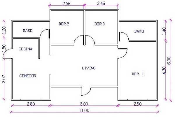 plano casa medidas casa madera plano de casa madera