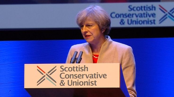"Theresa May has said that preserving the union is at the heart of government policy and a ""personal priority"", as she set out her case for Scotland remaining in the UK.  She said there was ""no economic case for breaking up the United Kingdom,"" and that she would ensure more powers are devolved to Scotland after Brexit.  Speaking at the Scottish Conservative conference in Glasgow, she also accused the SNP government of ""tunnel-vision nationalism wh..."