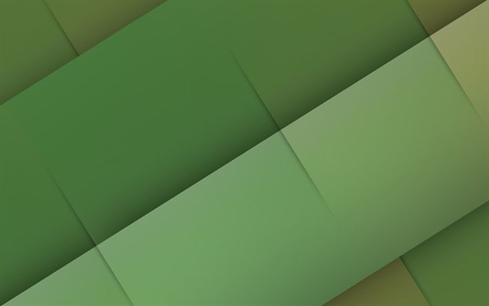 Download wallpapers lines, creative, green background, material design