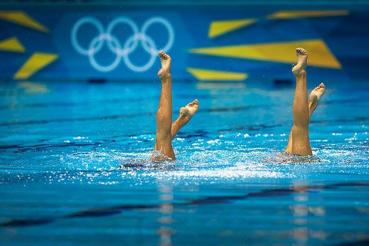 London 2012: women's synchronised swimming duets