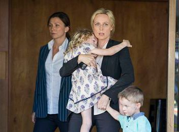 Bianca Grieve, Janet King and the twins. Anita Hegh, Marta Dusseldorp, Bianking.