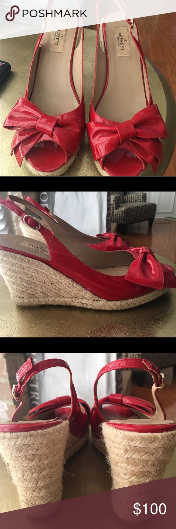Red Valentino wedges Cute red Valentino wedges perfect for summer Valentino Shoes Wedges