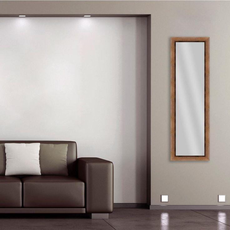 52.25 in. x 16.25 in. Gold Framed Mirror