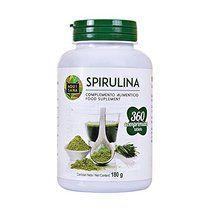 Spirulina Kapseln, 100% pur & natürlicher Vitalität & Energy Booster, 360 Spirulina Tabletten für Extra Proteine, Spirulina Presslinge empfohlen für Sportler