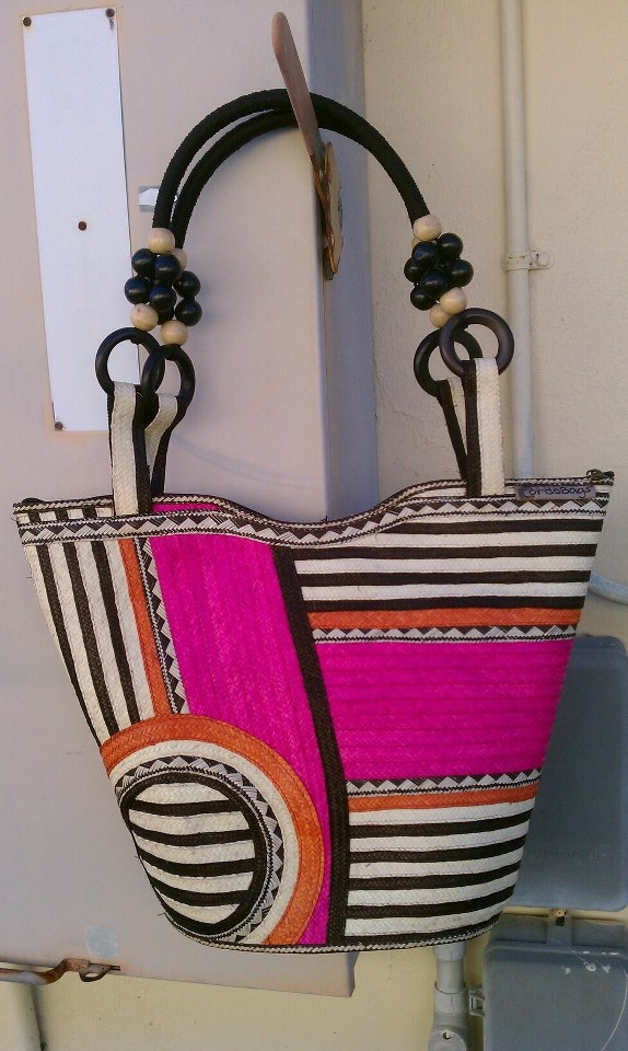 Juliana Bucket Flower  SS 2012  Cana flecha handcrafted purse  www.CordoBags.com