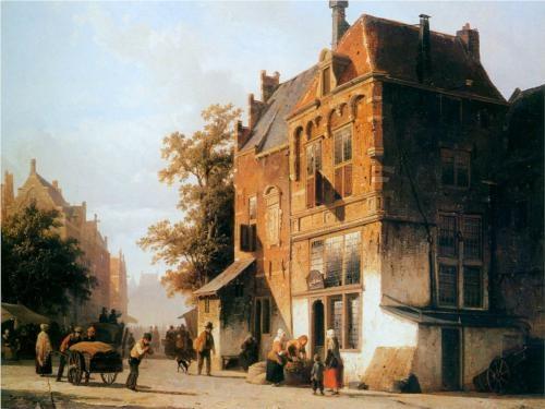 Westermarket in Amsterdam - Cornelis Springer