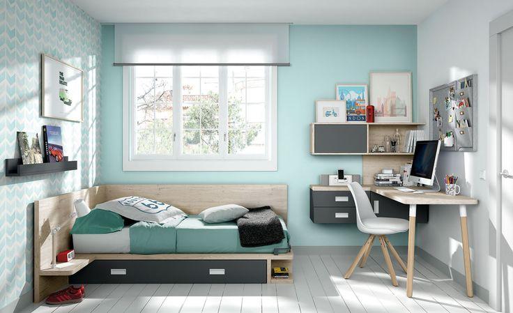 55 best novedades mueble juvenil images on pinterest - Habitacion juvenil chica ...