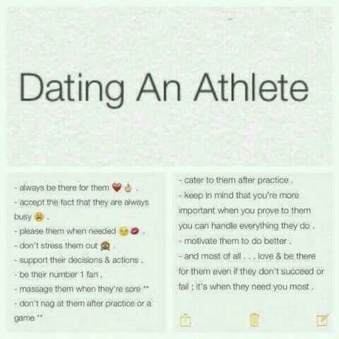 Aw this is cute, dating an athlete