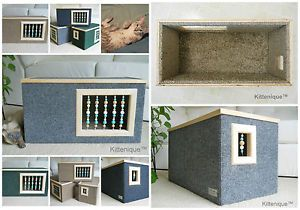 Beaded Cat House. The perfect place for your cat to hide, play and sleep.