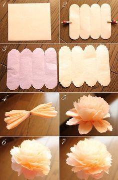 $ Fleurs de Papier ~ Verschiedene Blumen aus Baste…