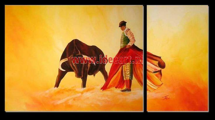 Schilderij stierenvechter