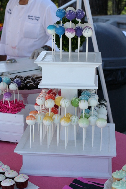 White Cake Pop Stand (2 Tiers only) by Sweet Lauren Cakes, via Flickr