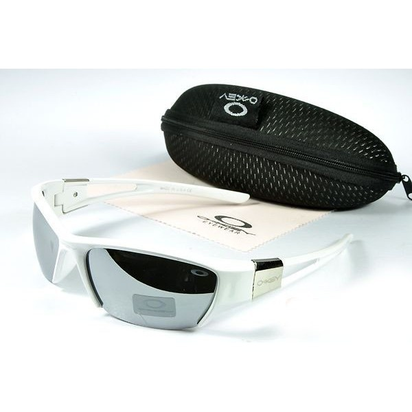 oakley womens dangerous asian fit sunglasses  oakley women's sunglasses metal grey lens white frames 20586